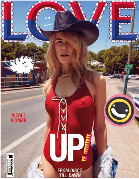 Les tétons de Nicole Kidman à la une de Love Magazine